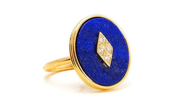 La Rose des Alizés Ring Lapis Lazuli-3