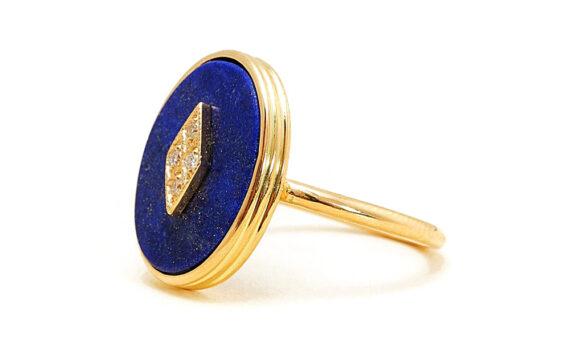 La Rose des Alizés Ring Lapis Lazuli-2