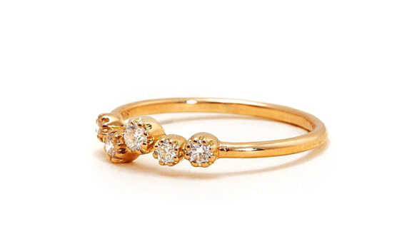 Magic Topkapi 5 ring yellow gold diamonds-3