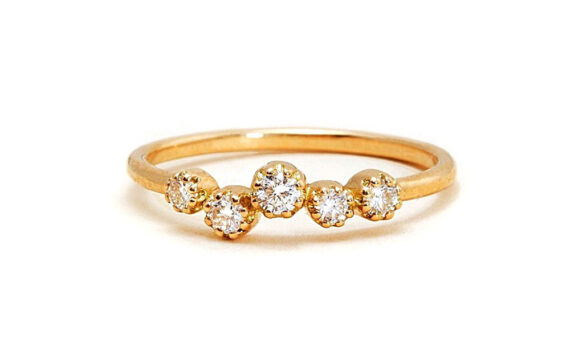 Magic Topkapi 5 ring yellow gold diamonds