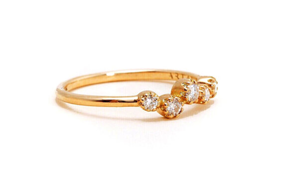 Magic Topkapi 5 ring yellow gold diamonds-2