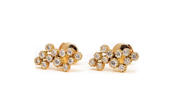 Magic Topkapi 24 earrings yellow gold-2