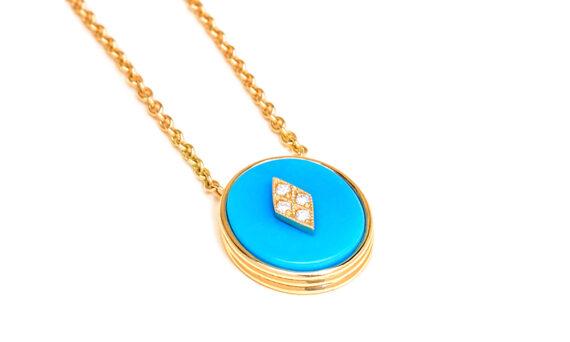 La Rose des Alizés turquoise necklace-3