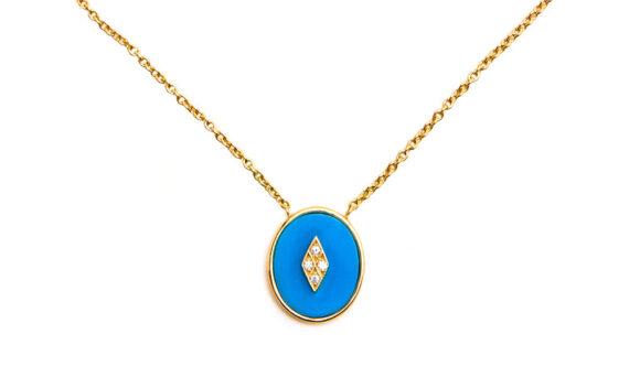 La Rose des Alizés turquoise necklace-1