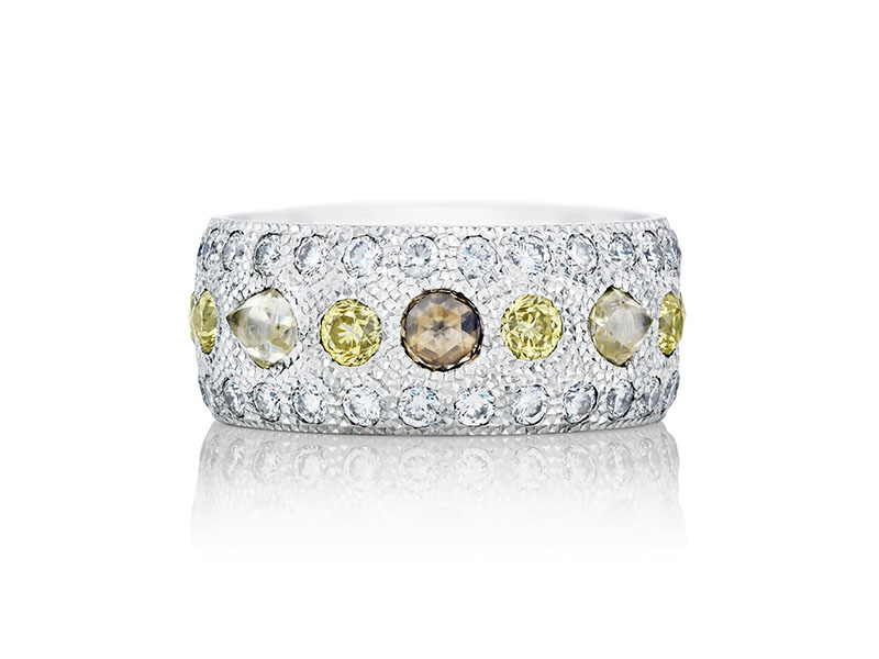 De Beers - Talisman White Gold Diamond Band