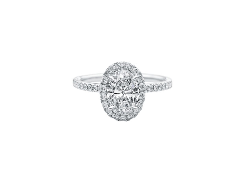 Harry Winston - The One, Oval-Shaped Diamond Micropavé Engagement Ring