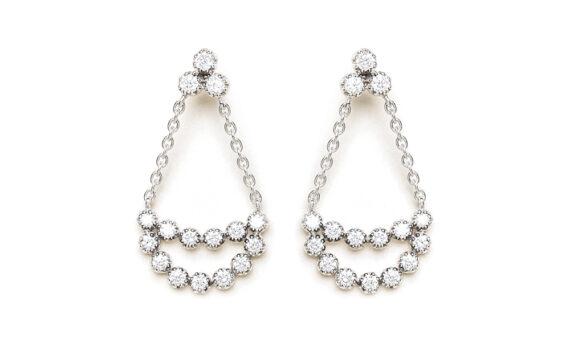 Magic Topkapi 32 earrings white gold