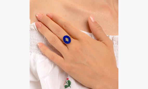 La Rose des Alizés lapis lazuli ring au porte