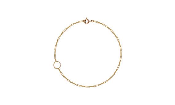 Rivka Nahmias Rectangle Ankle Bracelet 18kt yellow gold