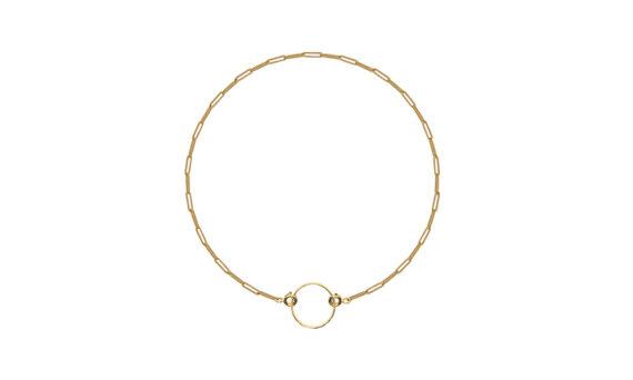 Rivka Nahmias Rectangle Choker 18kt yellow gold
