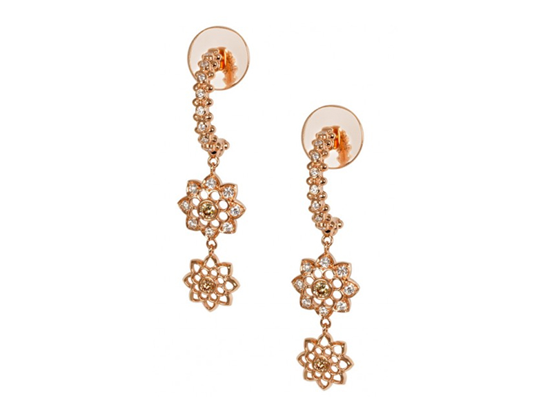 Alexandra Abramczyk - Boucles d'oreilles India en or rose