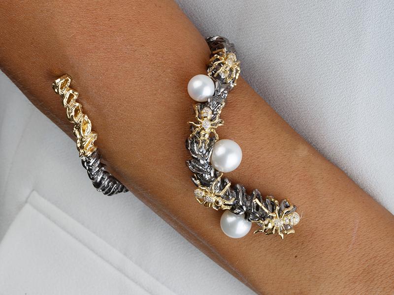 Gaelle Khouri Ant on spine bracelet