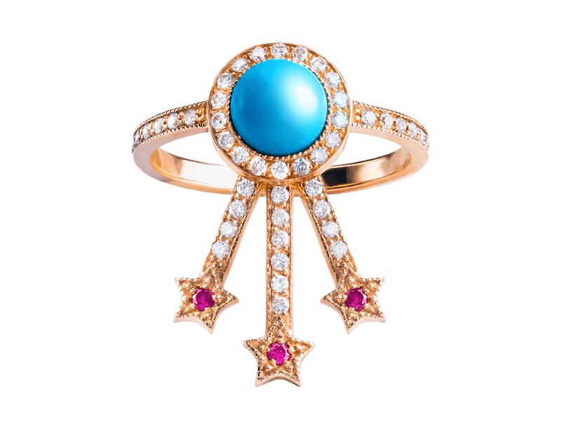 Jenny Dee Jewelry - Bague Alcylone turquoise