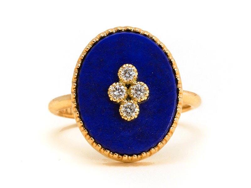 Maison Artaner - Bague La Rose des Alizés Lapis Lazuli