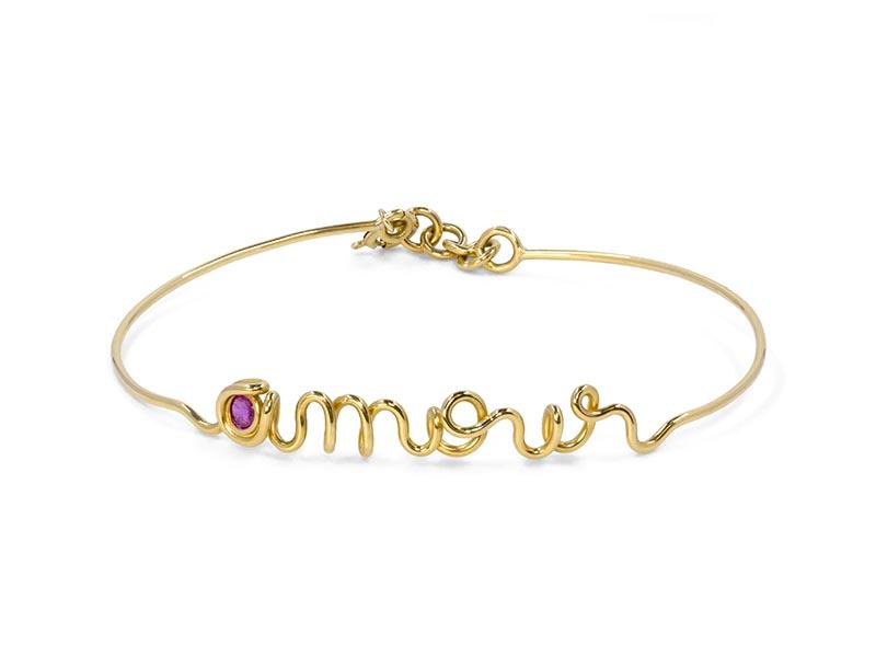 Elia Paris - Bracelet Amour or jaune