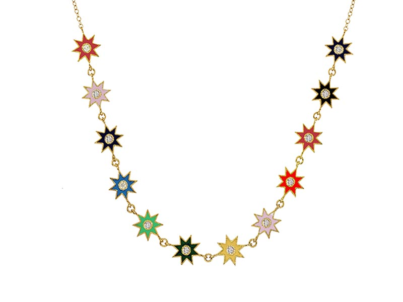 Colette Jewelry - Collier Enamel multicolore