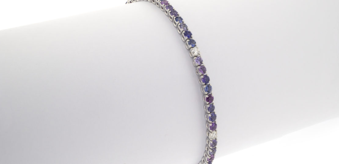 Purple tennis bracelet