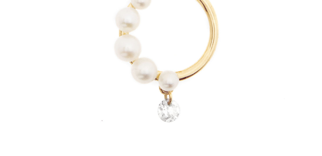 Aphrodite demi perlée earring